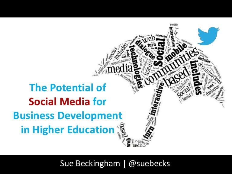 The Potential of Social Media for Business Development in Higher Education