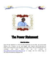 The power statement ebook   roi i