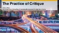 Instilling the Practice of Critique