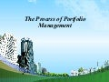 The process of portfolio management