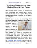 The pros of outsourcing your medical peer review tasks