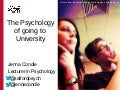 The psychology of going to university