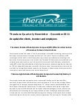 Theralase Quarterly Newsletter Dec 2011