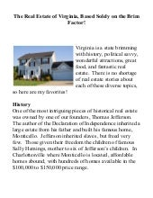 The Real Estate Of Virginia