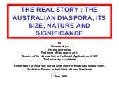 The Australian Diaspora, Its Size, ...