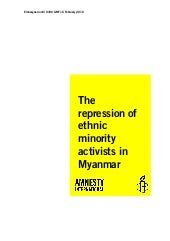 The repression of ethnic minority a...