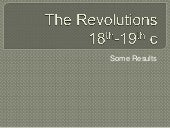 The revolutions results