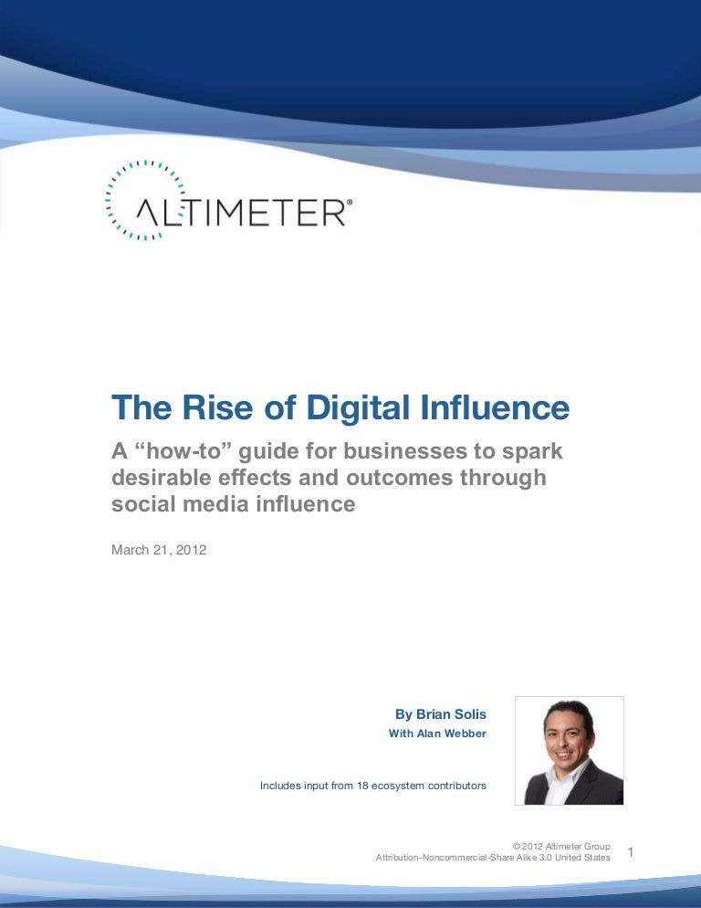 [Report] The Rise of Digital Influence, by Brian Solis