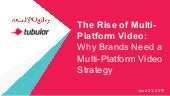 The Rise of Multi-Platform Video: Why Brands Need a Multi-Platform Video Strategy