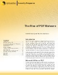 The Rise of PDF Malware
