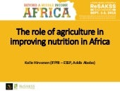 The role of agriculture in improving nutrion in Africa