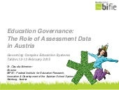 The role of assessment data in Austria