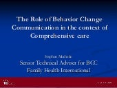 The role of bcc in the context of c...