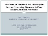 The role of information literacy in...