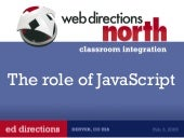 The Role Of Java Script