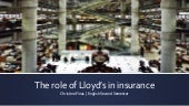 The role of lloyd's in insurance