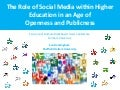 The role of social media in higher education
