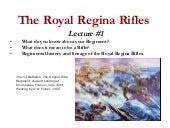 The Royal Regina Rifles #1