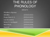 The rules of phonology