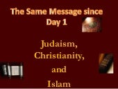 The same message since day 1 judais...