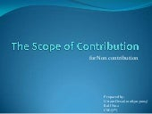 The scope of contribution non contr...