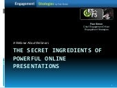 The Secret Ingredients Of Powerful Online Presentations
