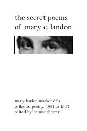 The Secret Poems of Mary C. Landon