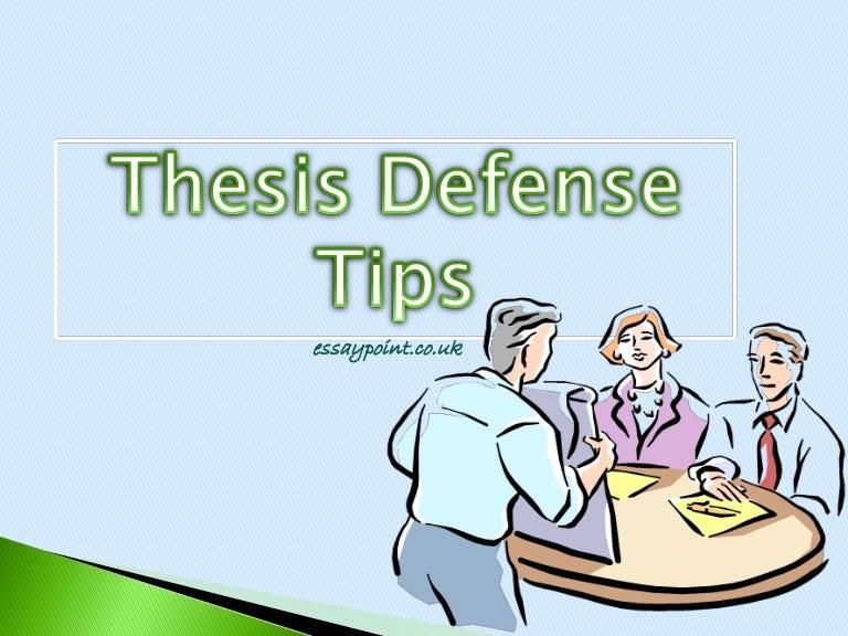 Dissertation to defend
