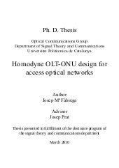 Homodyne OLT-ONU Design for Access ...