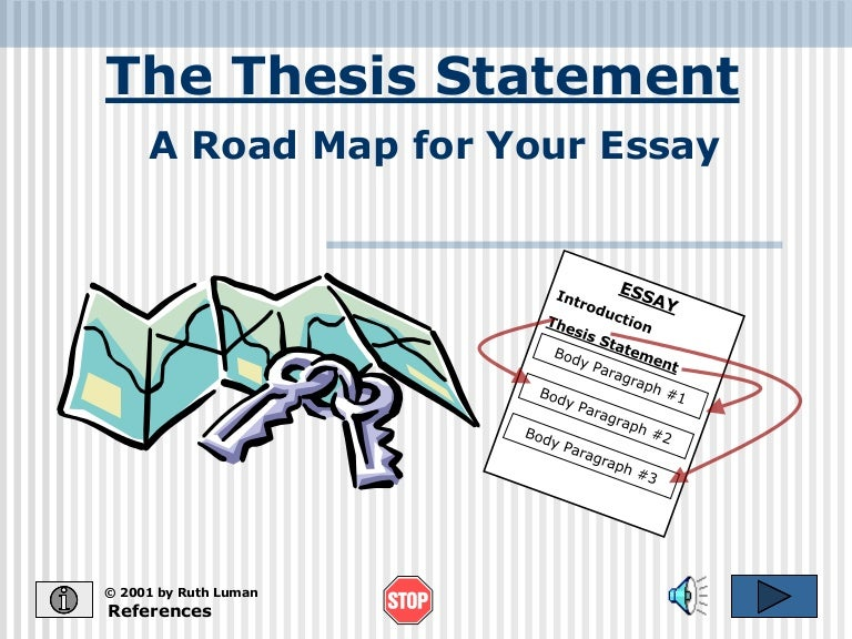 Creating an Argument: Developing a Thesis Statement