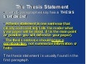 Thesis Statement: Five Paragraph Essay