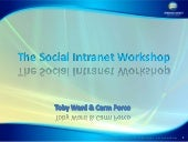 The social intranet workshop 2011 s...