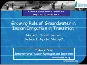 Growing role of Groundwater in Indi...