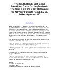The south beach diet good fats good carbs guide rev   very easy reference