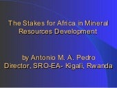 The stakes for Africa in Mineral Re...