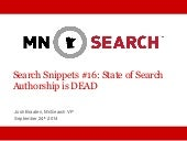 The State of Search - Authorship is Dead - Josh Braaten