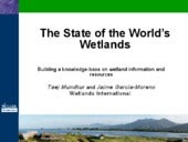 The State of the World's Wetlands -...