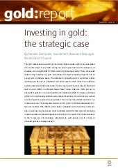 The strategic case for gold