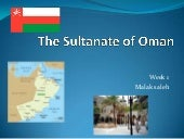 The Sultanate Of Oman Presentation
