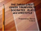 The three triumvirate PHILOSOPHY. rpc