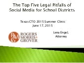 The Top Five Legal Pitfalls of Social Media for School Districts