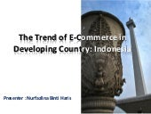 The trend of e commerce in developi...