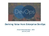 Value of Enterprise DevOps
