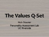 2010 Presentation - The Values Q-Set