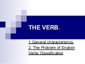 The verb classification