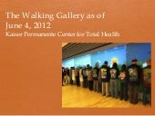 The walking gallery year one