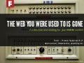 The web you were used to is gone — EuroIA 2014