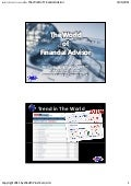 The World of Financial Advisor