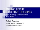 Thinking About Supportive Housing