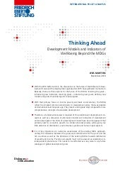 Thinking Ahead - Development Models...